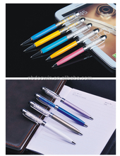Hot selling metal crystal ball pen with stylus touch