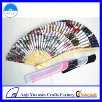 Mixed Flower Printed Chinese Fan Personalized Hand Fan Wholesale