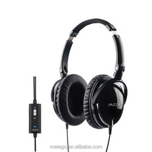 Private label wired communication used for airplane/metro/bus/train comfortable stereo headphone