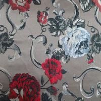 100%Polyester jacquard floral arabic curtain textile fabric design latest
