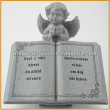 Resin angel with book