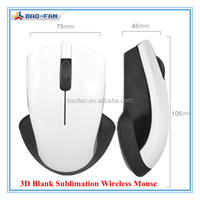Blank Sublimation Wireless Mouse 3D Sublimation Mouse High Quality 3d Wireless Air Mouse