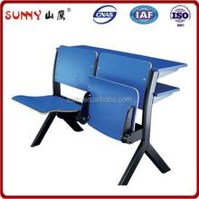 Two Seats Plastic Auditorium Chair / Auditorium Chair with Desk