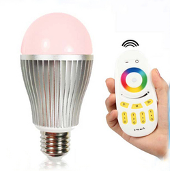 High bright & high quality aluminum RGB color changing led lamp bulb 9w