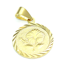 Beadsnice copper round charm pendants supplier real gold plated special pendant necklaces ID 32049