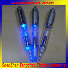 2015 hot sale flashing pen led ballpoint pen with different light