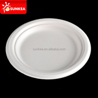 Disposable hot food serving plates with SGS, FDA certifications.