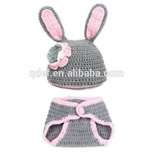 Wholesale cotton comfortable crochet bunny costume infant,newborn photo props ,newborn baby photos of costumes bunny