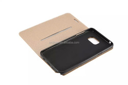 DIHAO Wallet Folio Leather Case for samsung s6 edge/ note 5, dull polish leather case