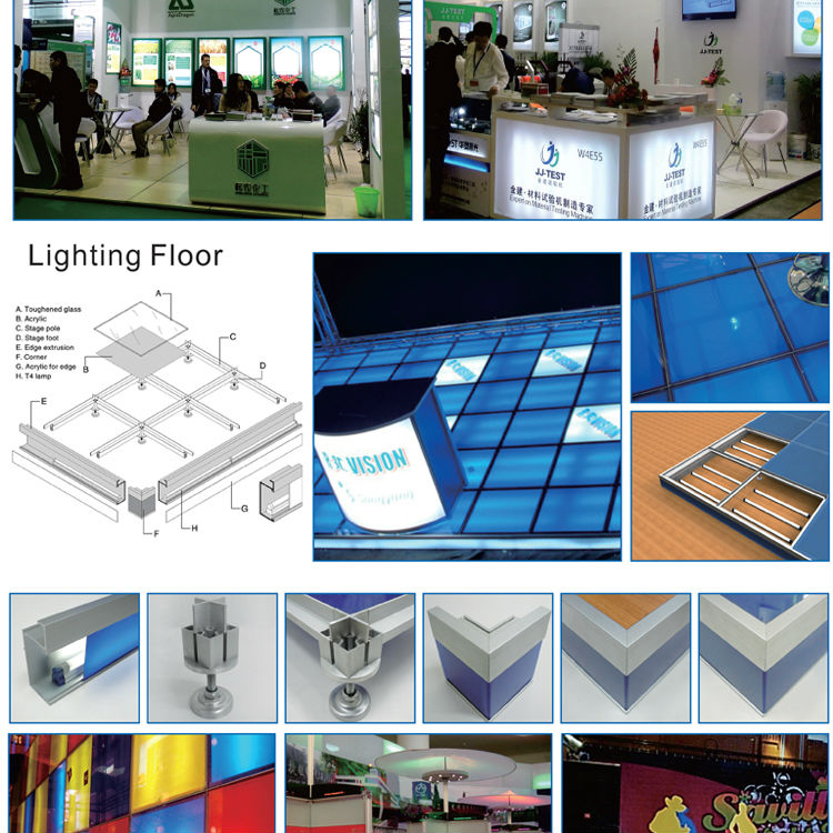 Exhibition Stand Raised Floor : Raised floor for expo exhibition portable glass