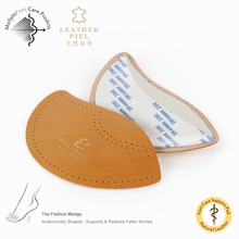 comfortable genuine leather of arch support insole for flat foot natural rubber shoe pad