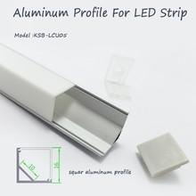 Squar LED aluminium profil avec diffuseur opale mat couverture de PMMA et clips de montage pour coin LED light bar