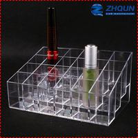 Countertop 24 slot plastic clear cube makeup organizer24 slot plastic clear cube makeup organizer