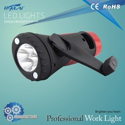 Good selling built-in ABS & rubber 4+8 best led flashlight with hand crank