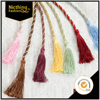 Luxe Silk Tassels with braided Beautiful Vibrant Colors curtain cotton tassel fringe Making Supplies Boho Fashion