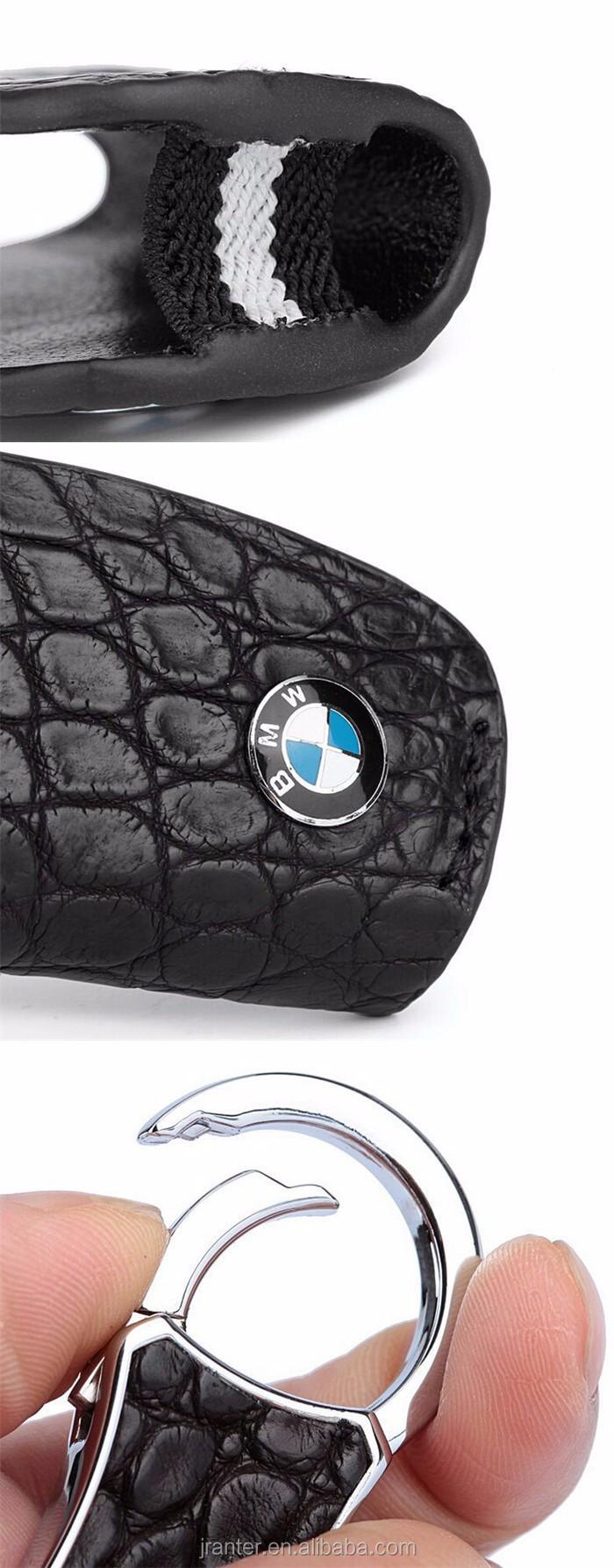 High-end customized genuine crocodile leather car key holder leather car key pouch with zipper_10