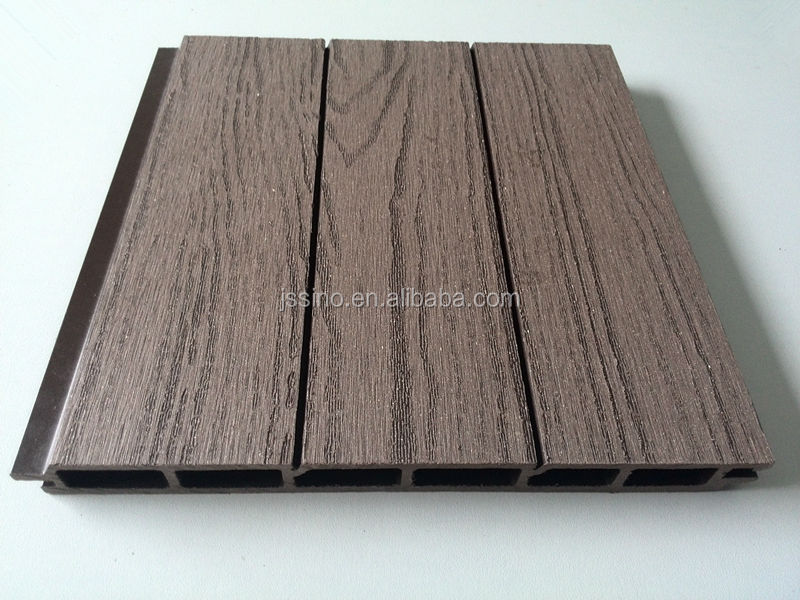 Wood Composite Panel : Natural wood grain plastic panels for walls