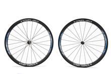 2014 YOELEO en forma de U 25 mm de ancho azul 38 mm 700C del camino del remachador de la bicicleta ruedas Carbon