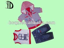 2013 100% de verano de algodón de bebé niño ropa de los niños