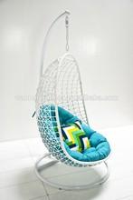 Forte luxo jardim varanda pendurado cadeira de vime DH-3466