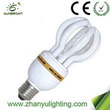 Energy saving lamps suppliers in China lotus bulb 4u 220v 8000h 26w