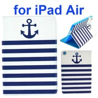 Color Printing Style Flip Leather Case Smart Cover for iPad Air