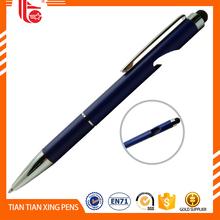 Printing Logo Triangular aluminium metal pen with chrome trim wholesale personalized metal pen with logo
