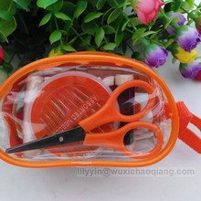 sewing kit with plastic bag