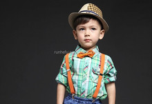 New Arrival Toddler Boys T Shirts Plaid Baby Kids Brand Tops Short Sleeve Children Summer Clothing