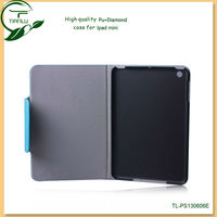 pu leather smart cover case for ipad mini,flexible protective mobile phone accessories leather case for ipad mini