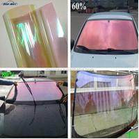 High transparent mirror reflective 85%-90% chameleon sun shade pink car tint film