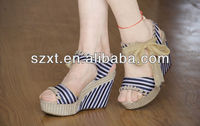 New fashion wedge heels sandal ladies beautiful cheap high wedge heels sandal 2014 summer popular wedges