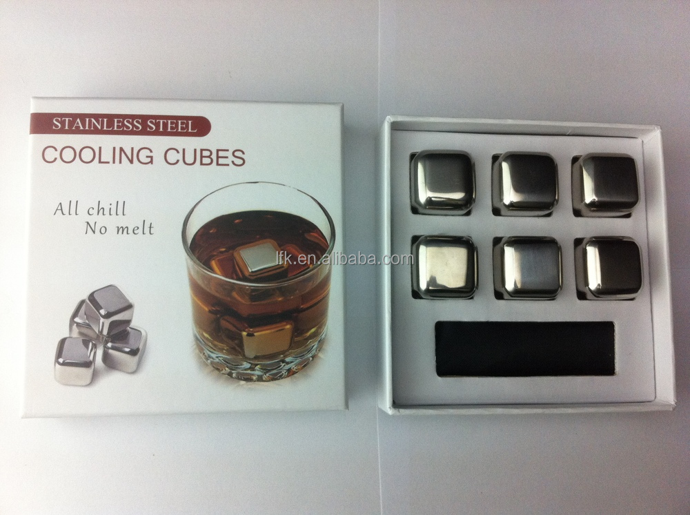 2015 Newest, Dice Ice Cube Whisky Stone, BPA Free Stainless Steel Ice Cube, LFK-IC01