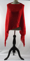 Factory Wholesale Fashion Scarf Shawl With Paillette Knitted Shawl