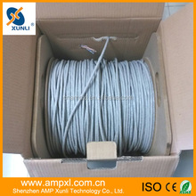 High Speed Solid Copper Conductor CAT5e UTP Cable Large Wooden Cable Spools For Sale