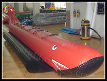 Inflatable Fly Fishing Boats / Banana Boat Water Games / Fly Shark Boat 6 Persons
