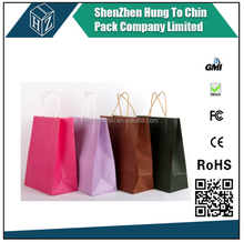 Shenzhen packaging kraft paper shopping brown gift paper shopping paper bag
