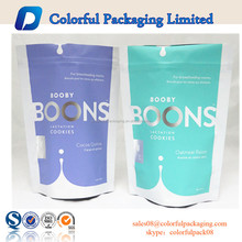 2015 high quality aluminum foil stand up sealed printed plastic bag packets