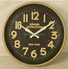 Retro brass wall clock modern design