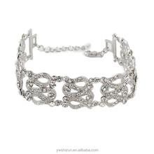 Luxury class crystal multi bubble adjustable bracelet