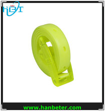 fashion colorful silicone belt/sports silicone belt/silicone rubber belt