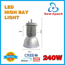 New led products mean well driver 240w led high bay light Epistar/ Bridgelux 5 years warranty