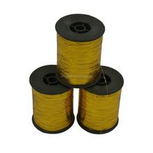 Flat lurex yarn, embroidery thread,GOLD M type metallic yarn
