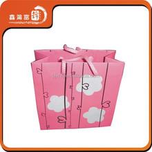 cute printed logo Christmas gift pink paper bag