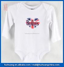 sleepwear interlock fabric baby bodysuit daywear Beatles white