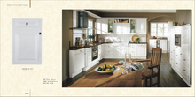 Quartz stone tabletop 18mm MDF RTA kitchen cabinet