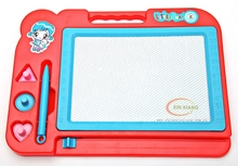 with matched magnetic pen with triangle and round and heart shape stamp magic drawing board