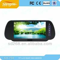 7'' tft lcd rear view mirror with usb and fm and bluetooth