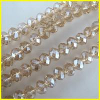 8mm/10mm/12mm Topaz Quartz Rondelle Beads Wholesale,Crystal Rondelle Beads,Glass Beads