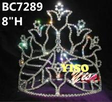 fashion crystal flower girl tiara crown